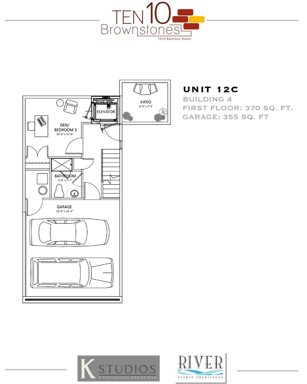 Click image to view & download Unit 12C floor plan
