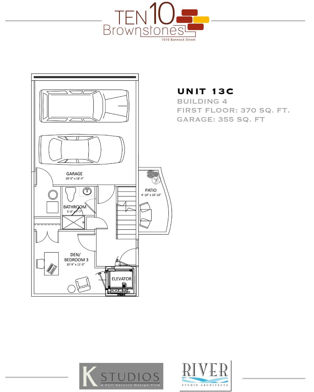 Click image to view & download Unit 13C floor plan