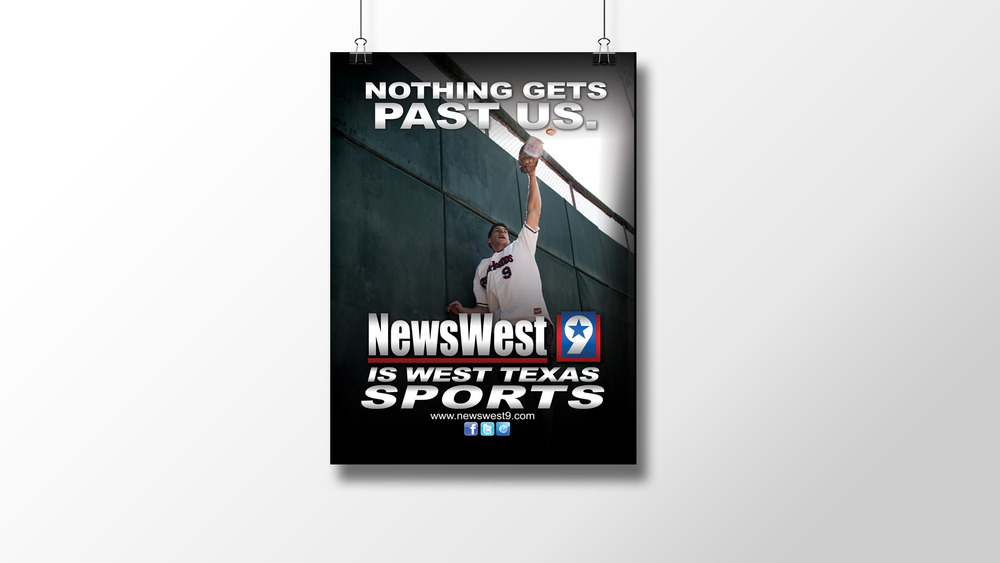 """Nothing Gets Past Us (Baseball)"" Print Ad"