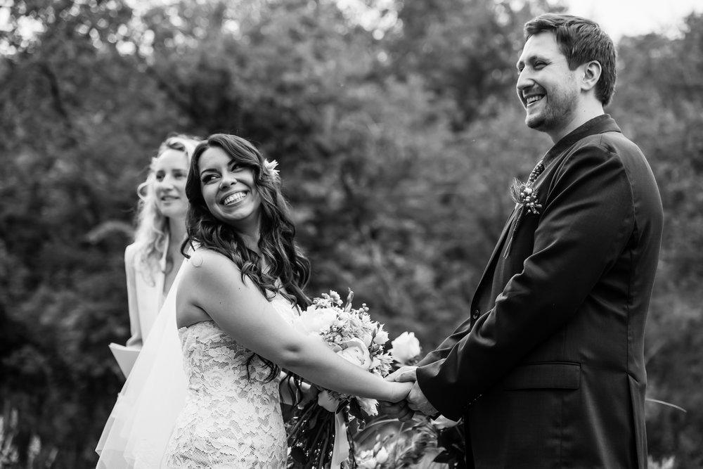 Stefy Hilmer Photography - bride and groom laughing during ceremony.jpg