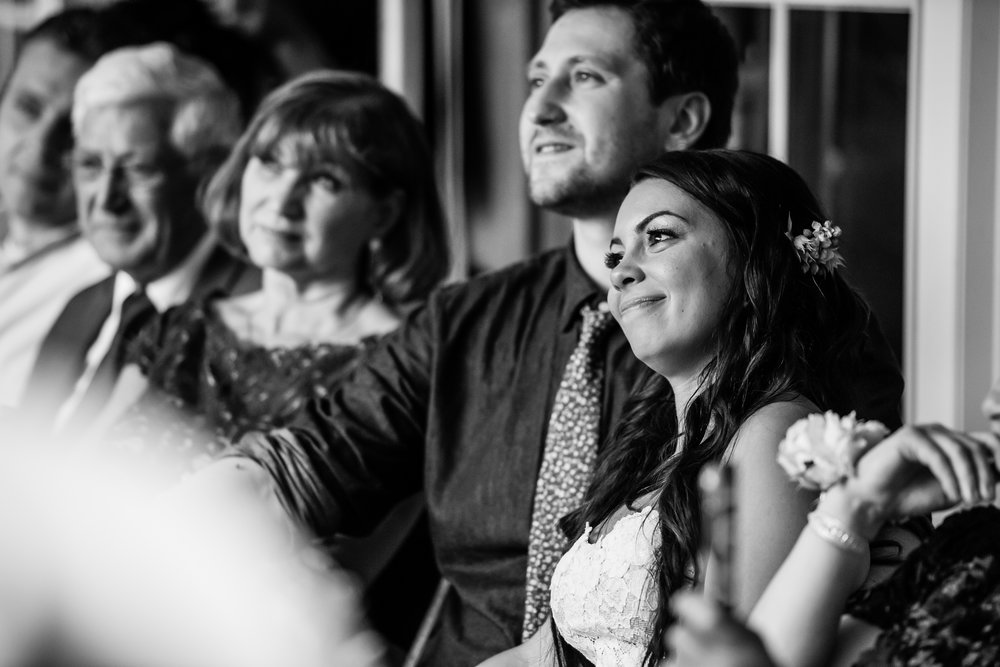 Stefy Hilmer Photography -bride and groom listenig to speeches.jpg