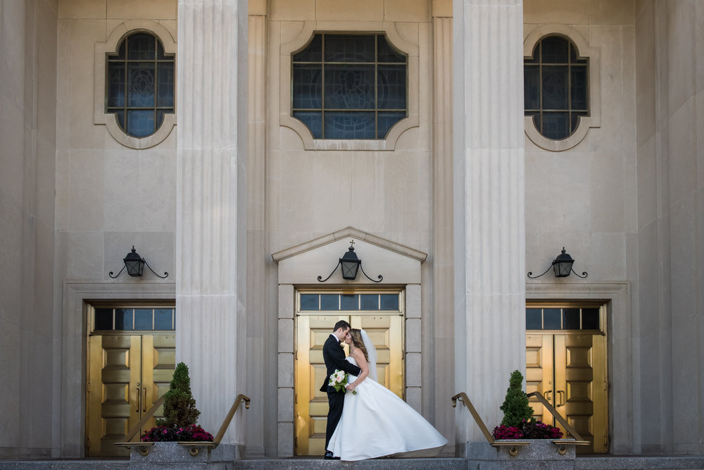 Stefy Hilmer Photography-bride and groom portrait in front of the church.jpg