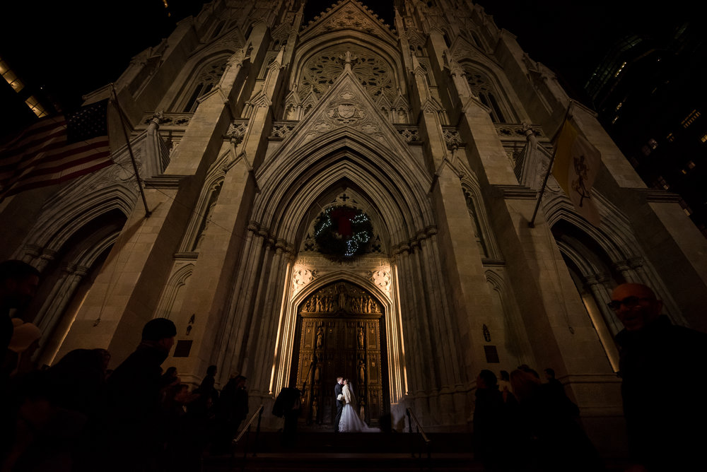 Stefy Hilmer Photography-bride and groom portrait in front of st. patrick cathedral in manhattan.jpg