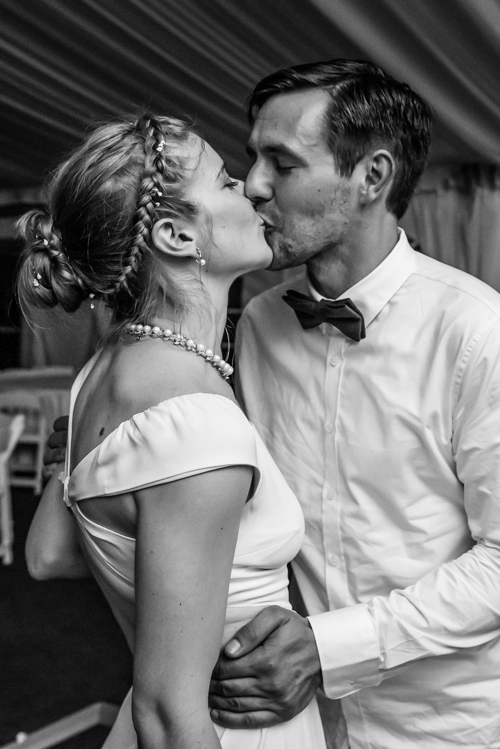Stefy Hilmer Photography-bride and groom kissing during wedding reception.jpg