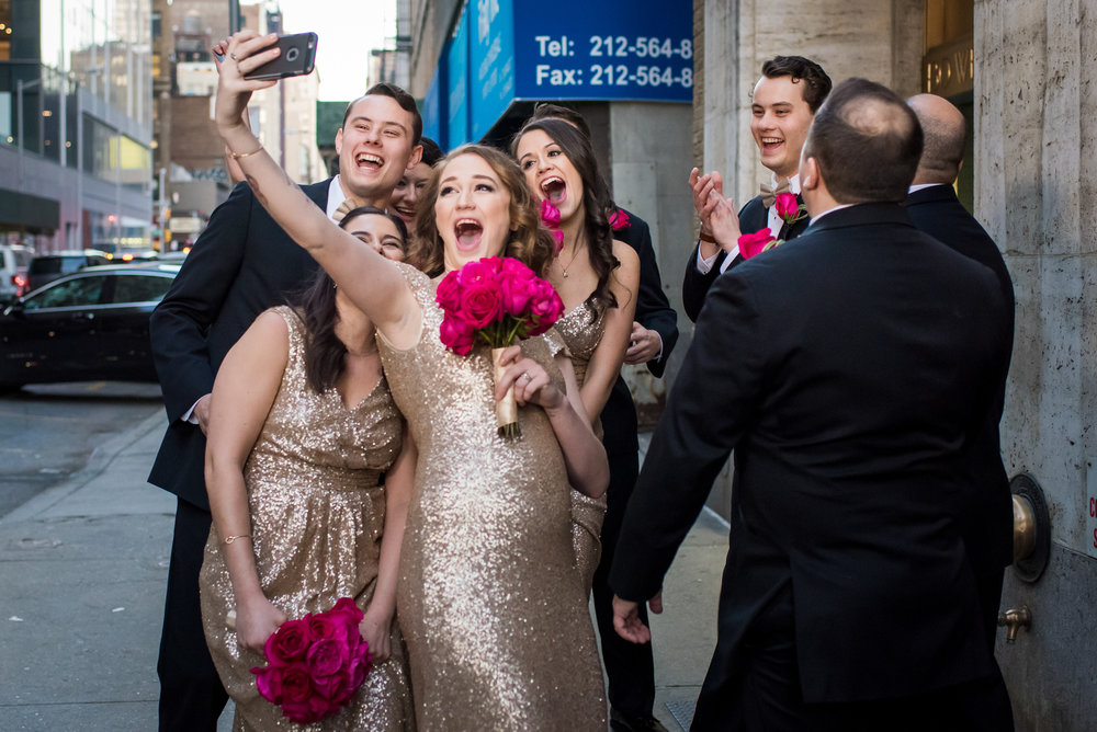 Stefy Hilmer Photography-bridal party selfie in NYC.jpg