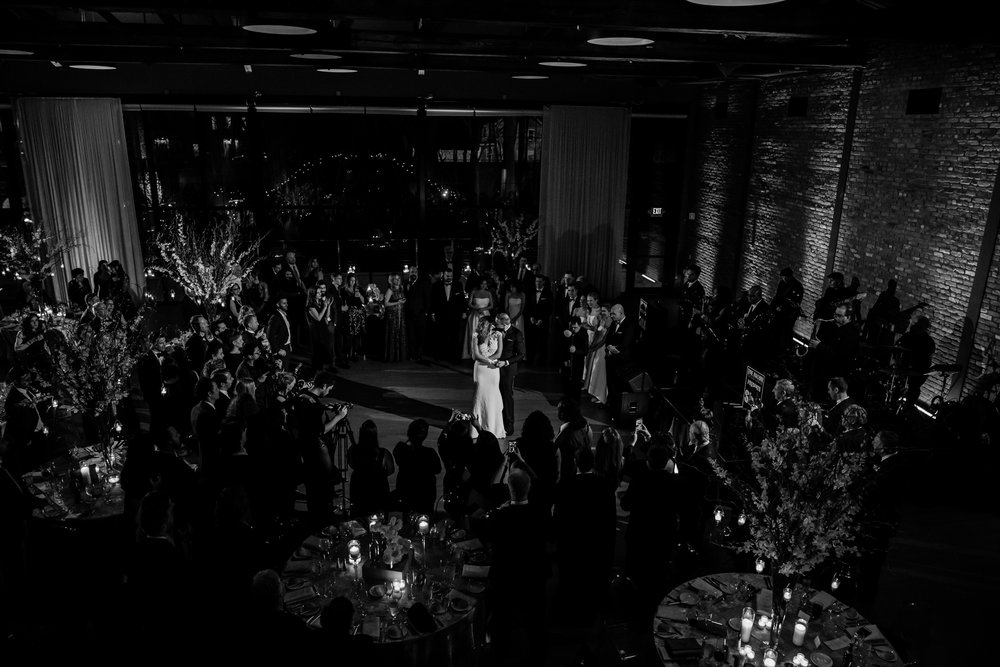 Stefy Hilmer Photography-bride and groom first dance photo from up top.jpg