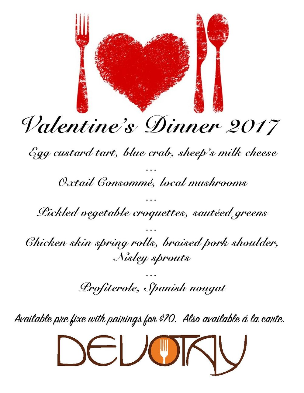 Call 319.354.1001 for reservations.