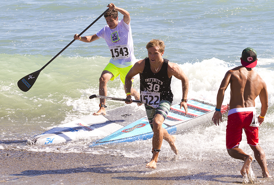 the races into the beach make for some of the best SUP carnage.