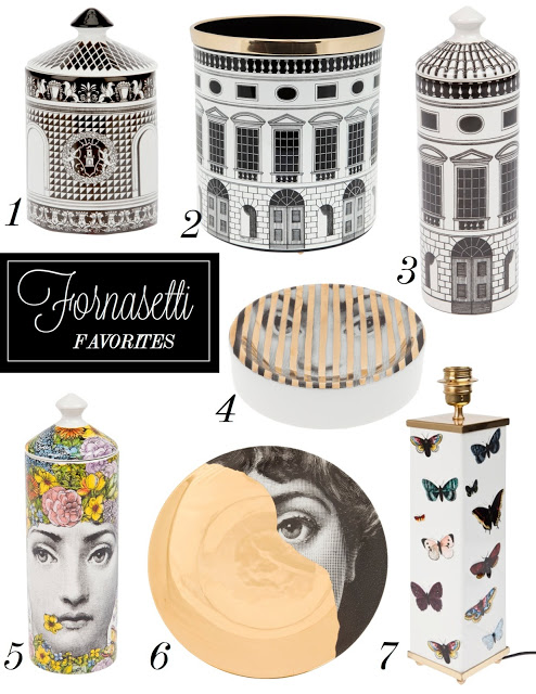 Fornasetti favorites by the decorista