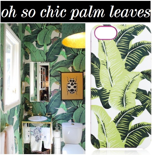 Get The Look Of Most Famous Fabulous Martinique Wallpaper With This Juicy Couture Palm Leaf