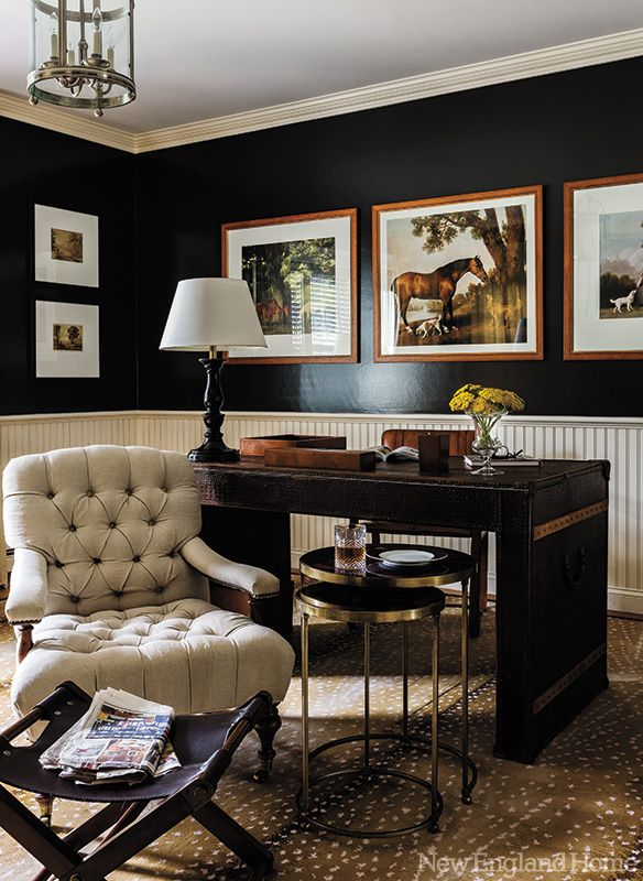 Office Space Of The Day Black Walls The Decorista