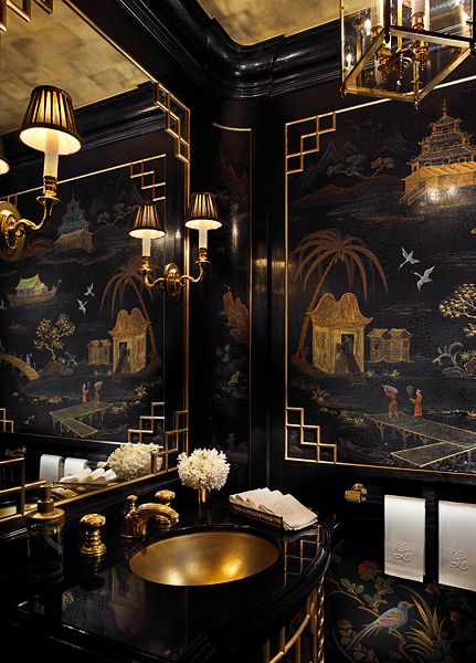 black chinoiserie