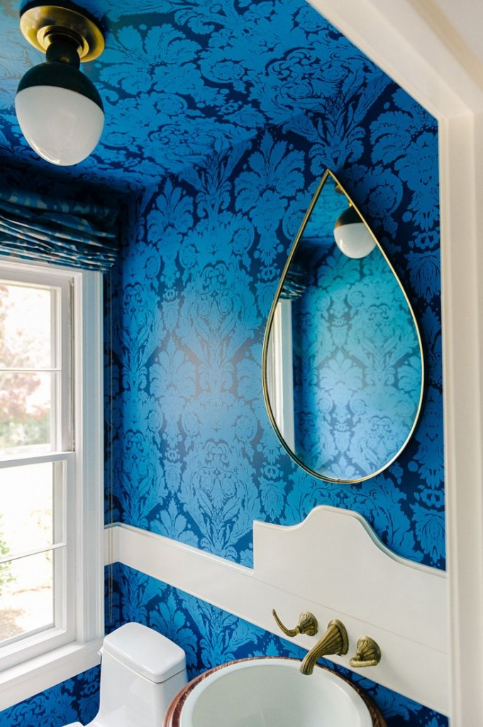 blue power damask
