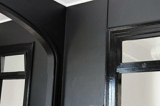 Paint inspiration matte black valspar the for Matte finish paint for walls