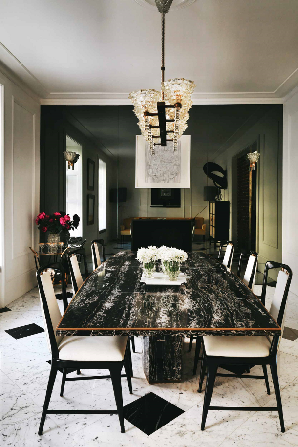 speaking of black marble london interior designer house  : dining room from www.thedecorista.com size 610 x 915 png 699kB