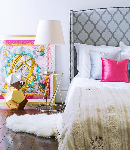 hermes scarf bedroom