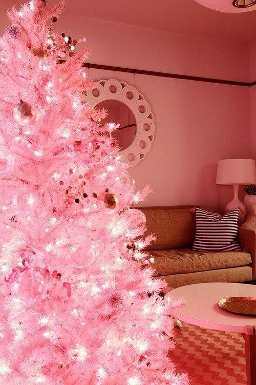 a pink christmas tree
