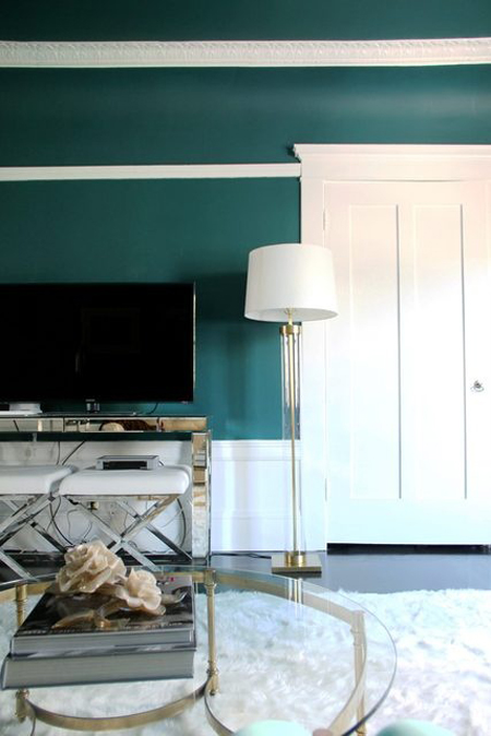 teal+room+white+trim