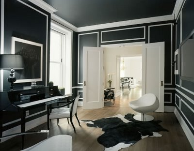 Black Amp White High Contrast Molding Chic The Decorista