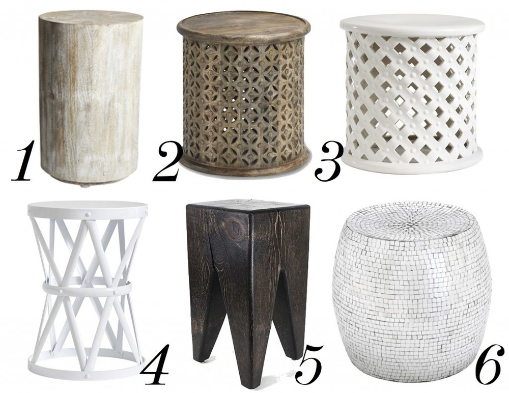 collection of drum tables - the decorista