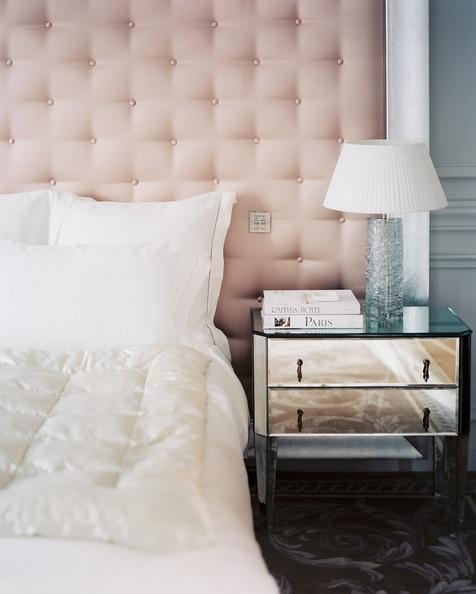 glamorous bedside style