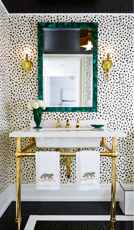 spotted powder room