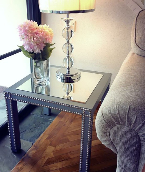 glam sidetable