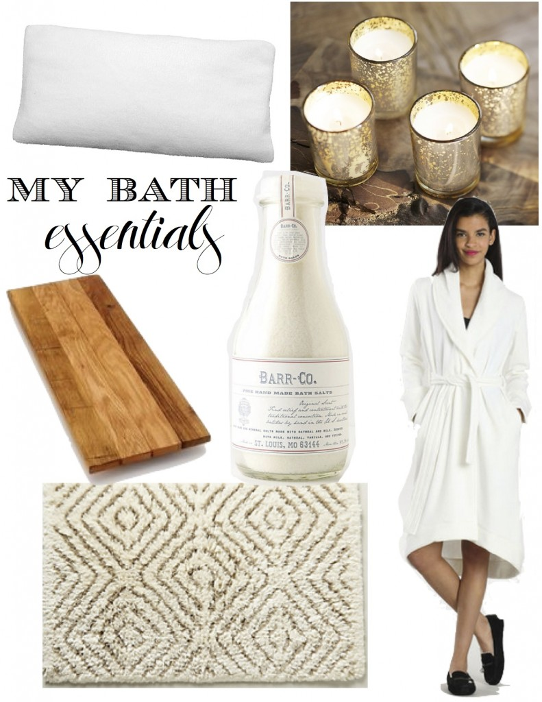 my favorite bath essentials