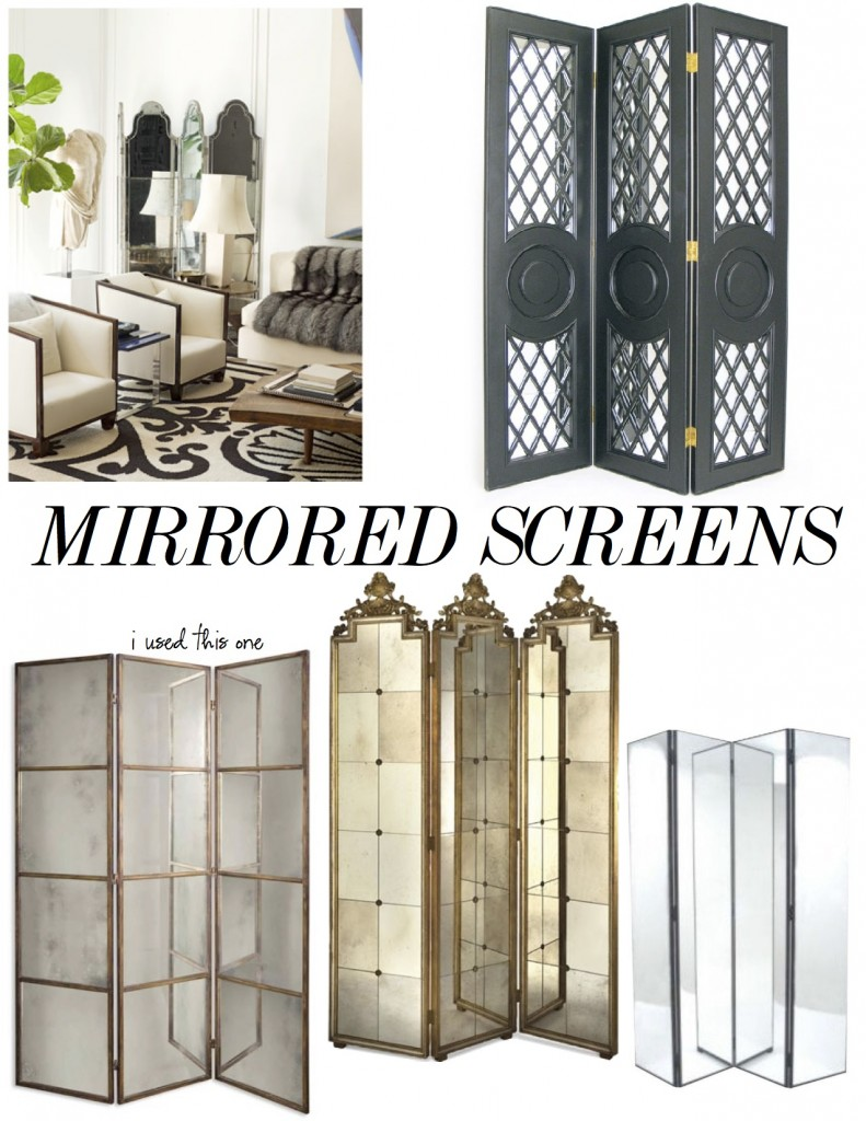 the decorista mirrored screens