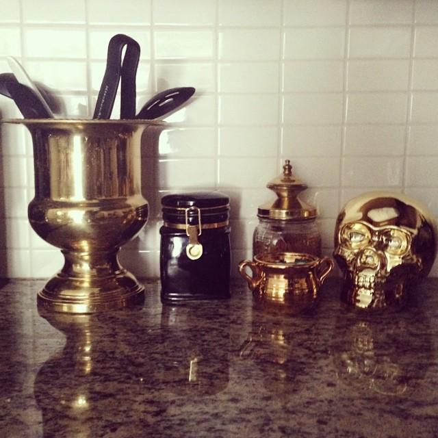 gold in kitchen