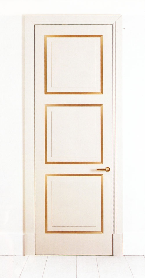 gold on door