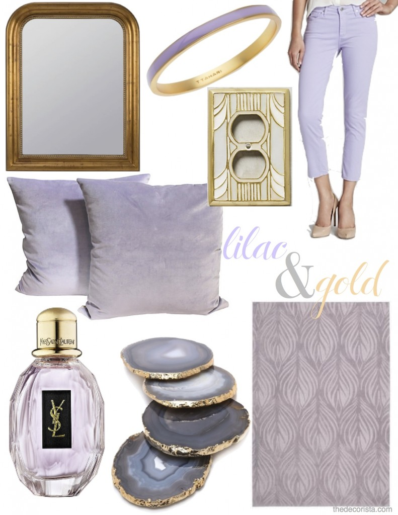 lilac and gold