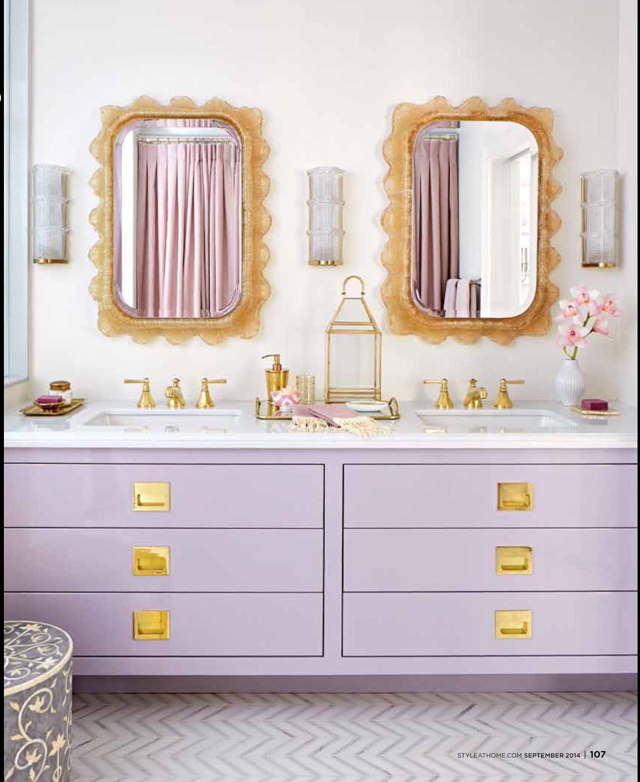 Gold Bathroom Killer Color Combo Lilac And Gold The Decorista