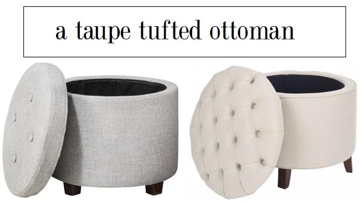 tufted ottoman
