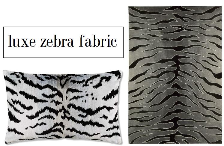 luxe zebra print