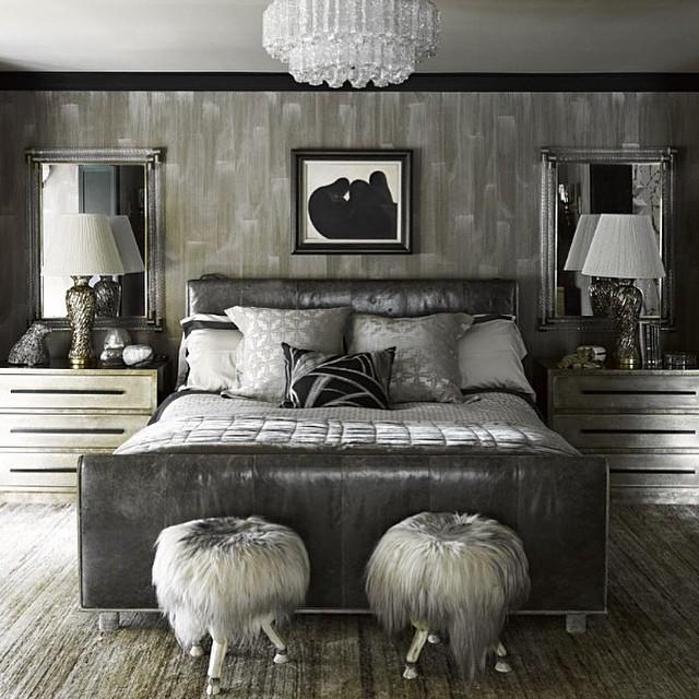 all gray bedroom