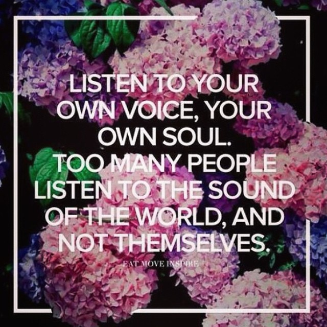 your own voice