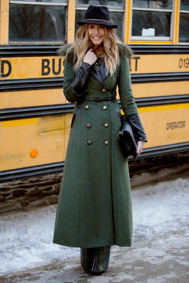 military style coat via elle