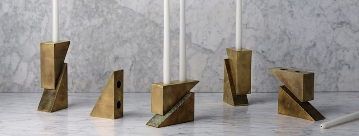 custom brass candle holders