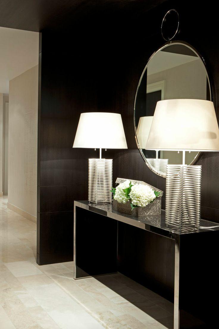 Interior inspirations dare to go dark the decorista for Hall interior furniture