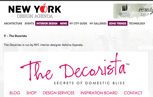 TOP 10 INTERIOR DESIGN BLOGS OF NEW YORK