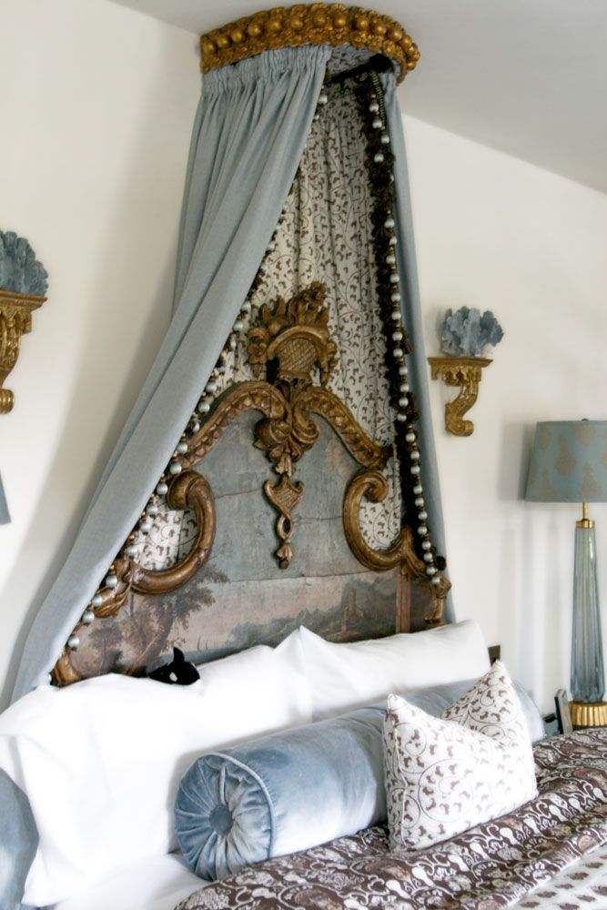 Now this gold corona is gorgeous but a little too French for my taste. I can only dream up of a more modern glam twist on this look. & Weekend decorating idea: create a canopy bed u2014 The Decorista