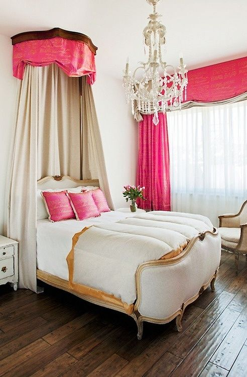 Weekend decorating idea create a canopy bed : hot pink canopy - memphite.com