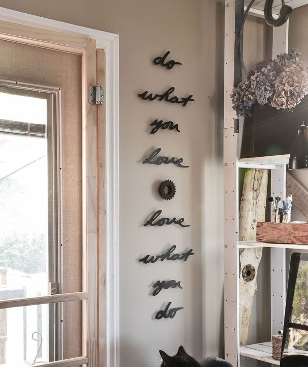 What could your home say about you? What words would make your days  brighter? Why not consider adding them in a stylish way?