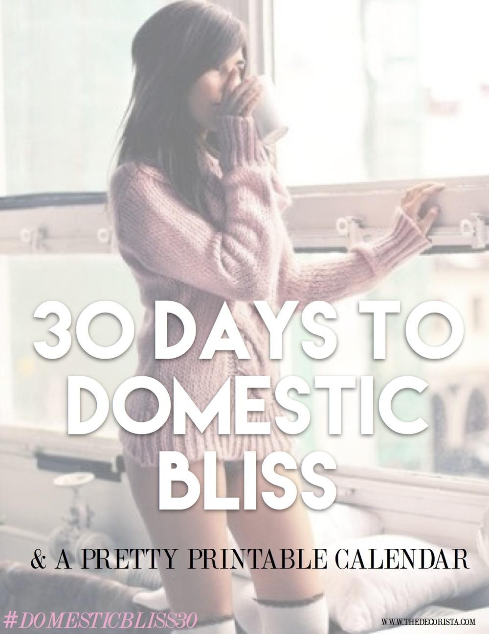 30 days to domestic bliss - the decorista