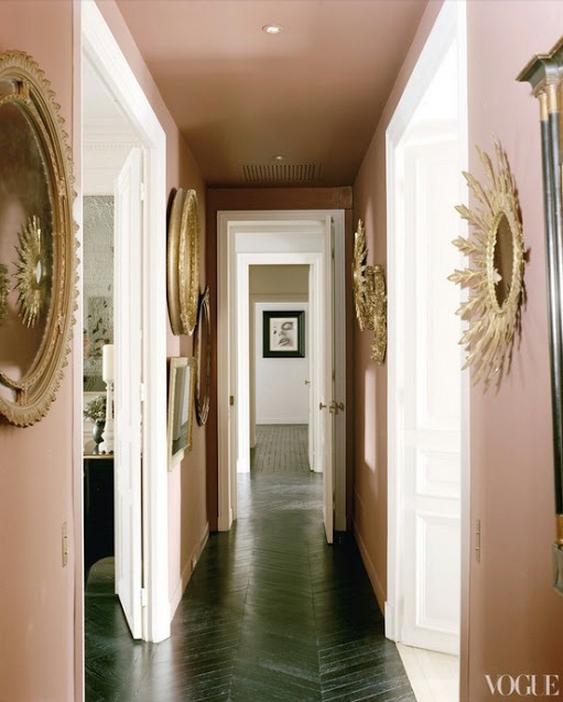 Vogue - a pink hallway
