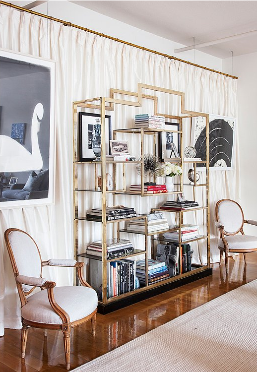glam bookcase