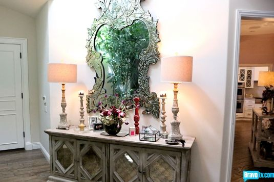 Beverly Foyer Mirror : Home tour kyle richards real housewives of beverly