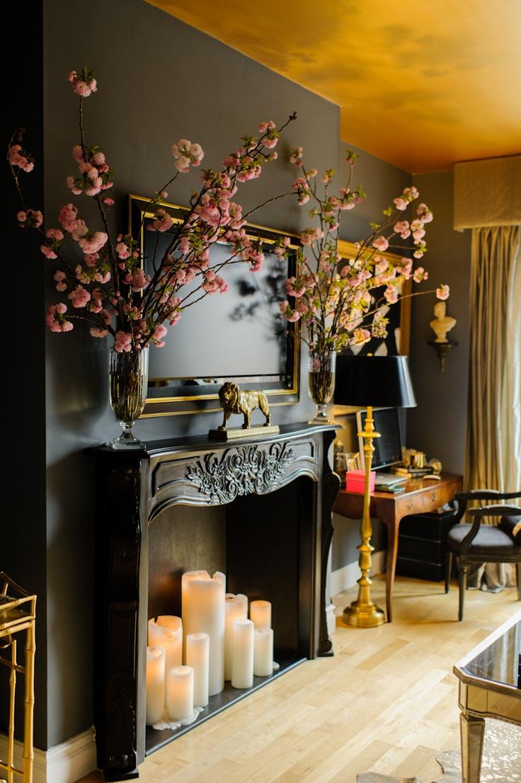 gold ceiling - ashlina kaposta interiors