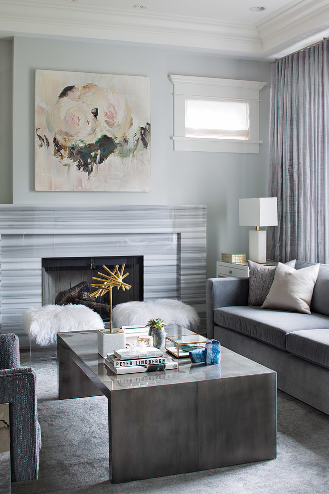 refined grey living room - thedecorista